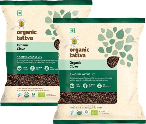 Organic Tattva ,Organic Cloves (Laung) Whole / Sabut - 100 Gram | 100% Vegan, Gluten Free and NO Additives | Handpicked and Premium Quality