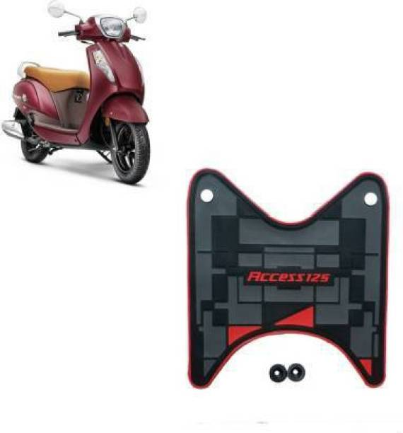Sms traders PVC Rubber Foot Mat for Scooter Access 125 Color, Multicolour Suzuki Access Two Wheeler Mat