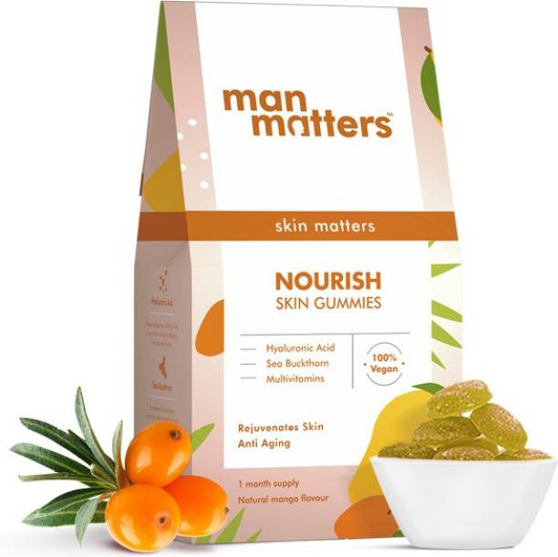 Man Matters Nourish Skin Gummies for Glowing Skin Enriched With Vitamin C & Vitamin E