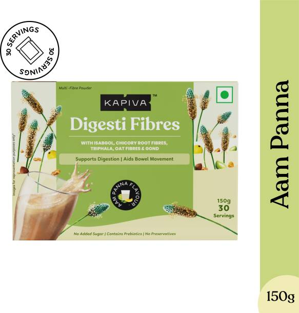 Kapiva Aam Panna Digesti Fibres - 4 Wholesome Fibres for Constipation Relief | Pack of 30
