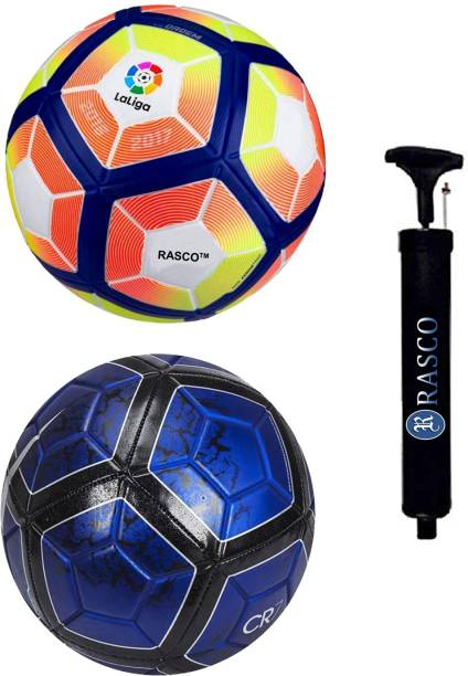 RASCO CR7 BLUE AND 12 PANEL LALIGA WITH PUMP Football - Size: 5
