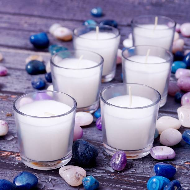 Parkash Candles Votive Glass Candles, Pack of 6 (Unscented) Candle