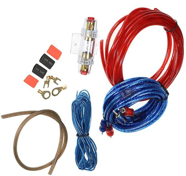 13-HI-13 HIGH QUALITY Car Subwoofer Amplifier Installation Wiring Kit Cable Fuse Holder Wire Cable SUITABLE FOR ANY 2 AMPLIFIER Two Class B Car Amplifier