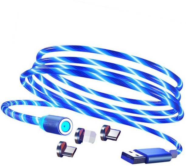 POZUB PZB-LGC-01 Best Buy High Power Flowing Light USB Charging Cable Led Data Cables Super Fast Charging and Strong Magnet Fast 3 in 1 Multiple Pin With LED Light Magnetic Charging Cable Magnetic Fast Charging Cable Flowing Light USB Cable Led Micro Data Cables LED Glow Flowing Bling light magnetic Charging USB cable High Quality Magnetic USB Charging Cable Micro USB, Type C, IOS with LED Data Cable Android Charging Cable Charging Pad
