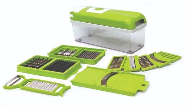 DeoDap Multipurpose 13-in-1 Jumbo Manual Vegetable and Fruit Chopper Cutter Grater Slicer, Dicer, Fruit Slicer Vegetable & Fruit Grater & Slicer