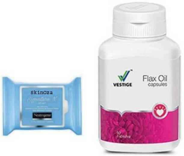 SkinOza Aloe Wipes & Vestige Flax Oil Capsules