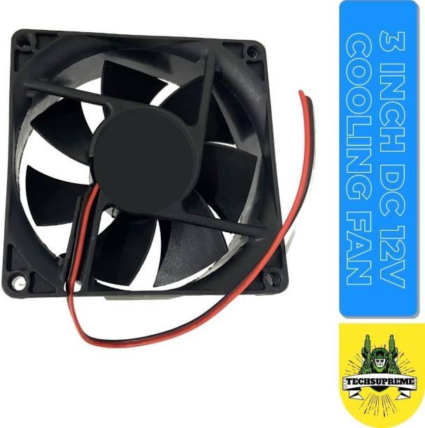 TechSupreme DC 12V Cooling Fan for DIY Incubator Cabinet Fan 3 Inch Cooler