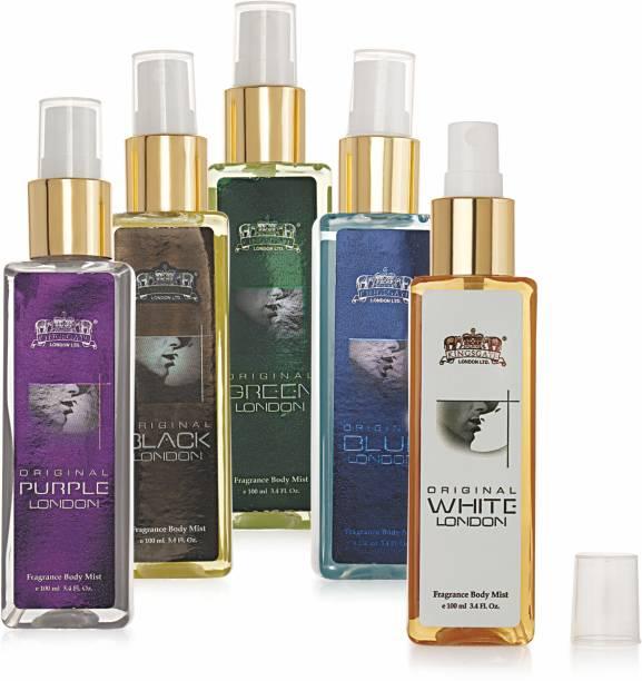 KINGSGATE ® ORIGINAL'S Presents London Family Body Mist   Fragrance Spray for Women   100% Vegan   Paraben & Phthlate Free   Instantly Refreshes Body Mist  -  For Women