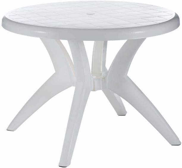 Binani Marina 4 Seater Virgin Plastic Dining Table for Home, Restaurants, Cafeterias and Outdoor Areas Plastic 4 Seater Dining Table