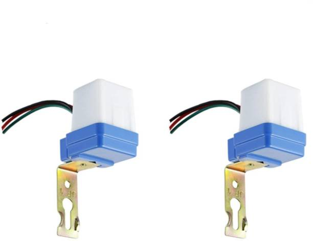 Quick Sense 220 V Auto Day/Night On & Off Photocell, LDR Sensor Switch (6 A) for Lighting Water Proof Set Of 2 3 A One Way Electrical Switch