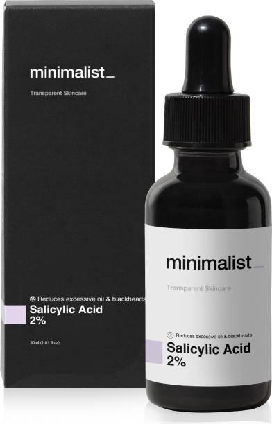 Minimalist 2% Salicylic Acid Serum for Acne, Blackheads & Open Pores - Exfoliating BHA Serum For Oily Skin