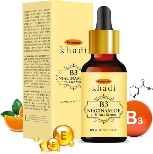 Premium Khadi 10% Niacinamide Face Serum - With Vitamin C, E & Aloe Vera and Rosemary Leaf Extract| Paraben & Sulphate Free 30ml