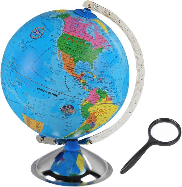 surya globe Globe for Kids, MITTAL Educational World Globe for Kids/Office Globe/Political Globe/Globes for Students Desk and Table Top Political World Globe