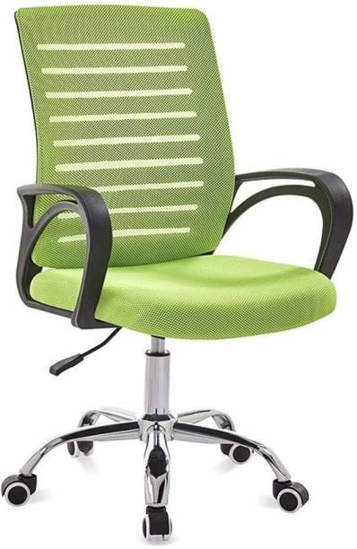 Finch Fox Low Back Mesh Desk Office Chair Executive Chair , Staff Chair , Staff Chair in Parrot Green Color Fabric Office Executive Chair