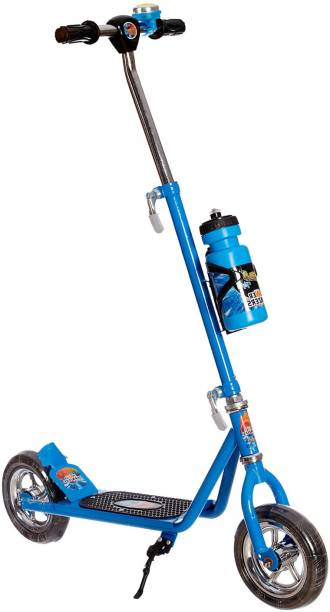 NHR Power Ranger Scooter with Sipper, Bell n Stand- Large Size (Height adjustable to 90 cm for Kids upto 10 years)- Blue