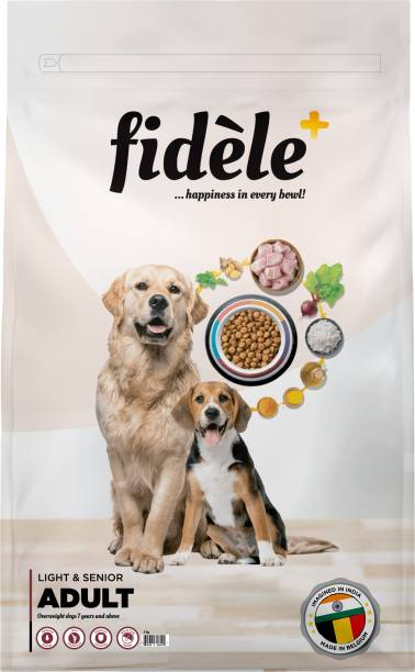 FIDELE + Adult Light & Senior Chicken 3 kg Dry Senior Dog Food