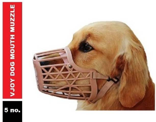 VJOY Plastic Mouth Muzzle 5 No. Medium Other Dog Muzzle Medium Other Dog Muzzle
