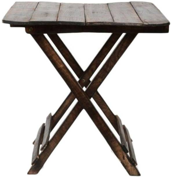 vedo Wooden Antique Fordable Table - Antique Handmade Foldable Coffee Table for Living Room, Garden, Outdoor - Corner Table/Bedside Stool for Bedroom Bamboo Side Table