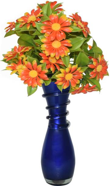 CRAFTVERRE Mosaic (15 cm)(Flowers Not Included) Glass Vase