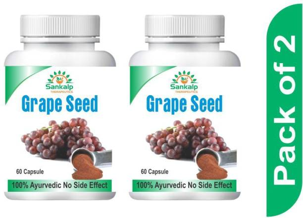 sankalp therapeutics Grape Seed Capsule for controlling High Cholesterol , Improves blood flow and Helps in High BP pack of 1