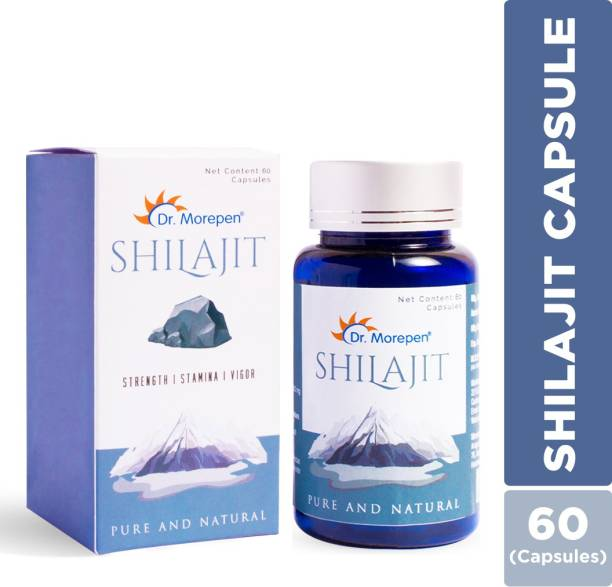 Dr. Morepen Shilajit Capsules 100% Ayurvedic Natural & Pure for Strength, Stamina & Vigor