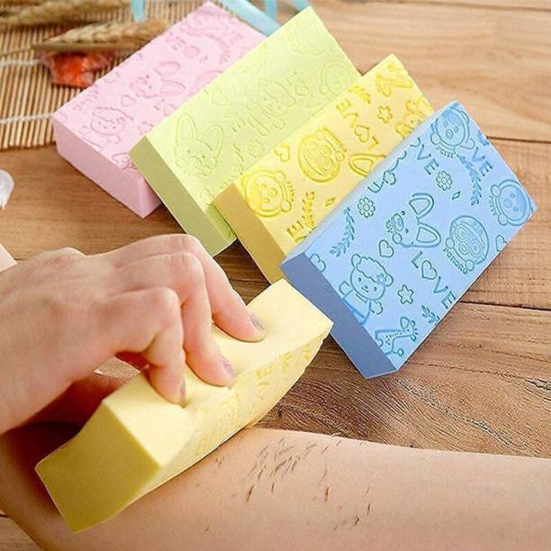 Porquepine Bath Body Shower Sponge - SPA Scrub Exfoliator Dead Skin Remover massager for Women Men and children