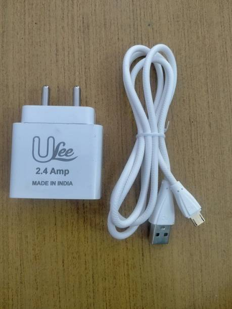 Itel ULEE SMARTPHONE AND MOBILE CHARGER 2.4 AMP AND DUEL USB PORT WITH MICRO USB DATACABLE 5VOLT OUTPUT CURRENT 2.4 A Multiport Mobile Charger with Detachable Cable