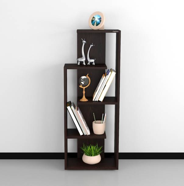 Captiver Henry Wooden Books and Showpieces Rack 5 Shelf Wenge Engineered Wood Open Book Shelf