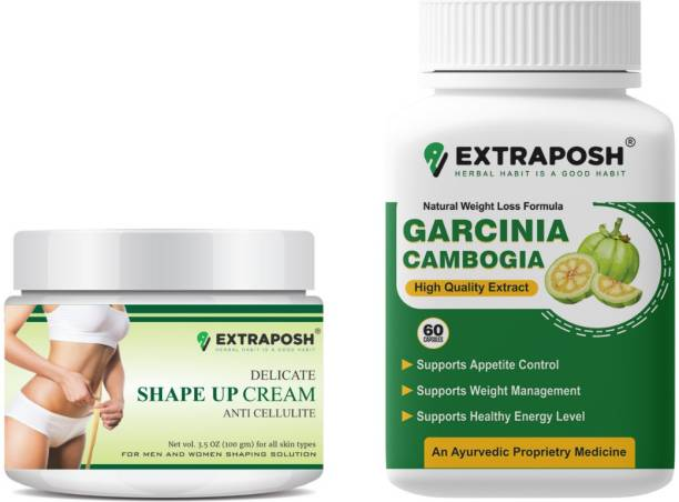 Extraposh DELICATE SHAPE UP CREAM - USEFULL FOR SLIMMING + GARCINIA CAMBOGIA CAPSULES - USEFULL FOR WEIGHT LOSS