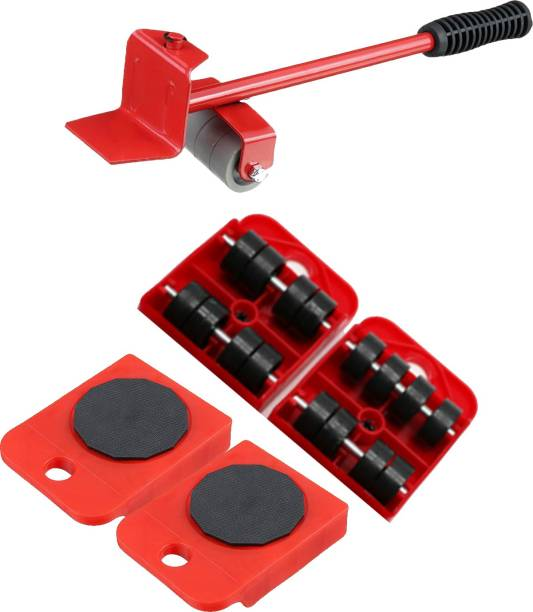 Kopila Furniture Moving Tool Lifter with 4 Pcs Casters Kits 360 Degree Rotatable Pads for Sofas Refrigerators Appliance Furniture Etc Rubber Furniture Caster