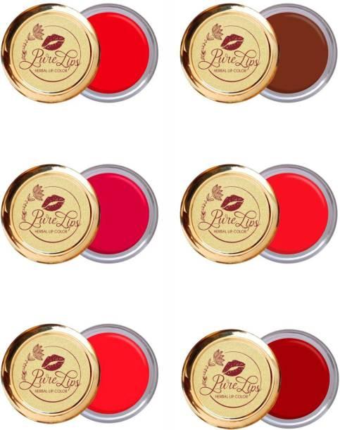 Aushadh PureLips Herbal Lip Balm 6 colors