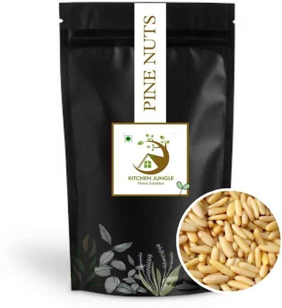 Kitchen Jungle Chilgoza Without Shell (Jumbo Size) Pine Nuts (chilgoze/chilgoja) Pine Nuts