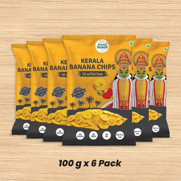 Beyond Snack Kerala Banana Chips Salt & Black Pepper 600g Chips (6 x 100 g) Chips