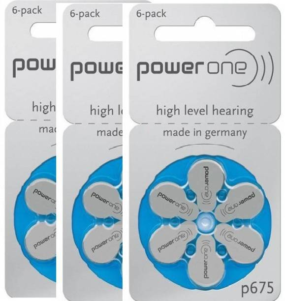 Power one P675 Hearing Aid Batteries 1.45V 3 patta (18 battery) Button Cells Stethoscope Case