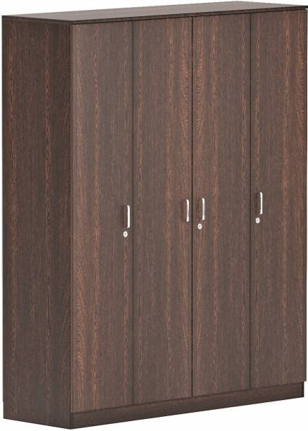 BLUEWUD Maltein Engineered Wood 4 Door Wardrobe