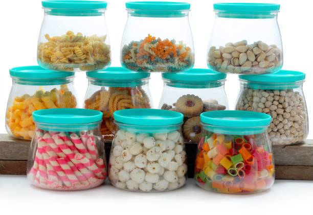 Flipkart SmartBuy Plastic Container / Kitchen Storage Container / Plastic Box / Kitchen Containers / Storage Box / Masala Box / Kitchen Container / Airtight Container / Canisters / Dabba / Jar / Combo / Set For Masala / Tea / Coffee / Suger / Rice / Food  - 800 ml Plastic Grocery Container