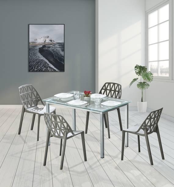 Featherlite Metal 4 Seater Dining Set
