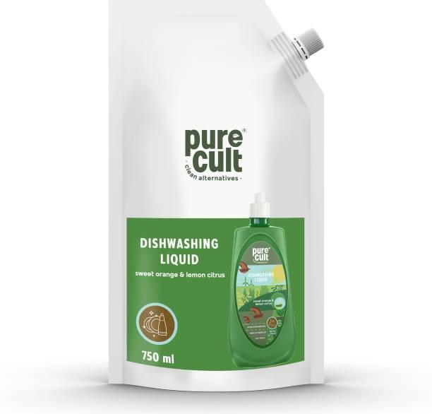 purecult Dishwash Liquid Refill Pack 750 ml Dish Cleaning Gel