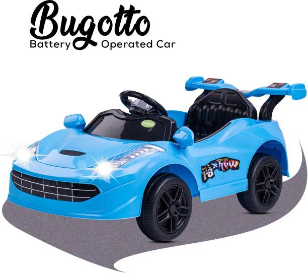 baybee Baby Toy Car Rechargeable 6V Battery Operated Ride on car for Kids Music Lights with R/C Jeep Children Car Electric (1) Motor Car Kids Cars Racing Car for Boys & Girls Age 1-4 Years Old (Blue Car Battery Operated Ride On