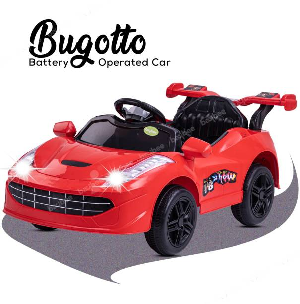 baybee Baby Toy Car Rechargeable 6V Battery Operated Ride on car for Kids Music Lights with R/C Jeep Children Car Electric (1) Motor Car Kids Cars Racing Car for Boys & Girls Age 1-4 Years Old (Red) Car Battery Operated Ride On