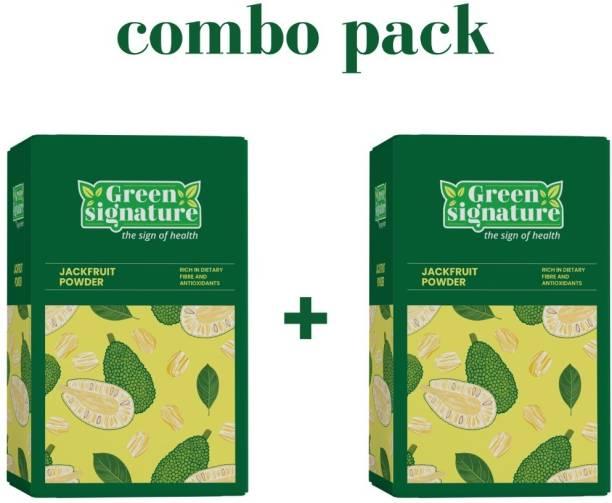 Green Signature Jackfruit Flour/Powder- Combo pack of 2- 400Gm - Premium quality