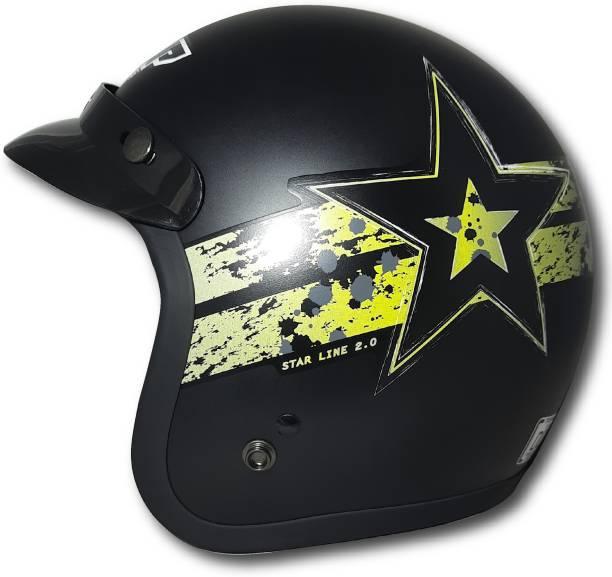 THH HELMETS TONUP TU-356 black gold starline Open face helmet Motorbike Helmet