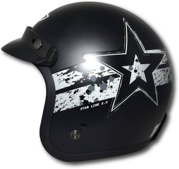 THH HELMETS TONUP TU-356 black silver Starline open face helmet Motorbike Helmet Motorbike Helmet
