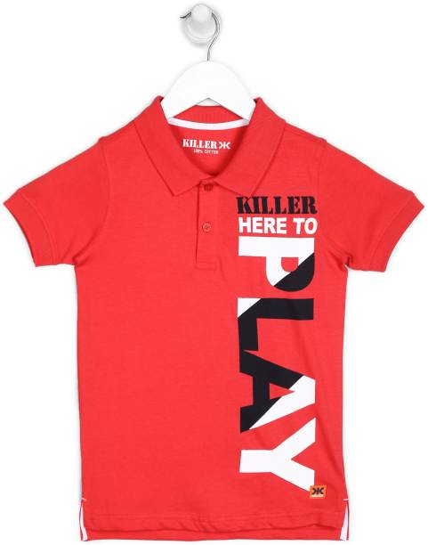 KILLER Boys Printed Pure Cotton T Shirt