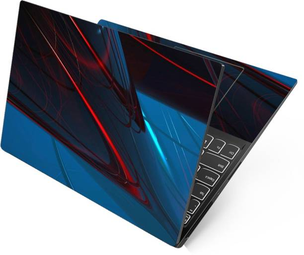 FineArts Full Panel Laptop Skins for 13.3, 14.1, 15.6 inch - No Residue, Bubble Free - Removable HD Quality Printed Vinyl/Sticker/Cover for Dell-Lenovo-Acer-HP (Cool Blue Abstract) Stretched Vinyl Laptop Decal 15.6
