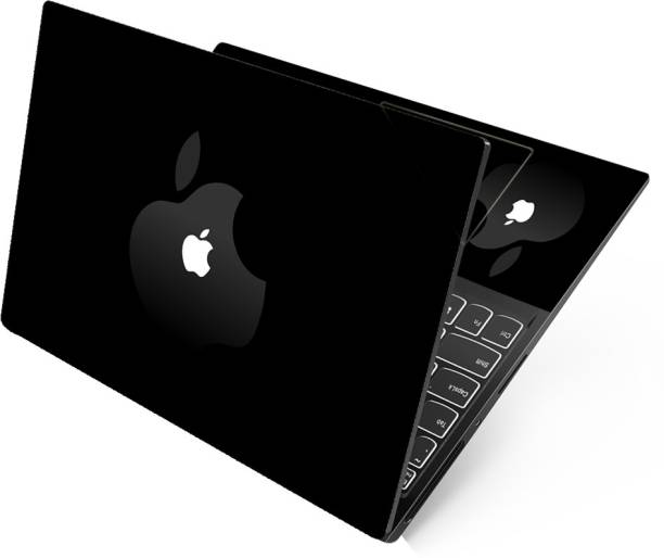 Anweshas Dual Apple On Black Full Panel Laptop Skins Upto 15.6 inch - No Residue, Bubble Free - Removable HD Quality Printed Vinyl/Sticker/Cover Self Adhesive Vinyl Laptop Decal 15.6