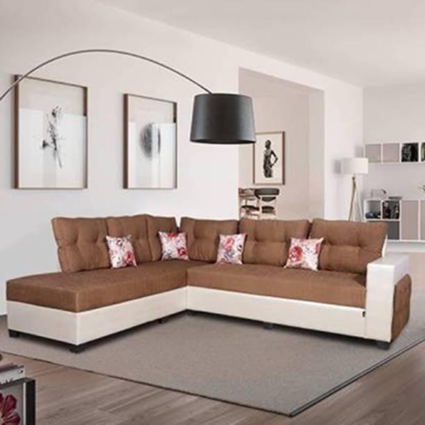 ELTOP Lifestyle L-Shape LHS Fabric 6 Seater  Sofa