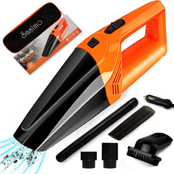 Hemovia 12V High Power Wet & Dry Portable Handheld Car Vacuum Cleaner Car Vacuum Cleaner with Anti-Bacterial Cleaning, 2 in 1 Mopping and Vacuum, Anti-Bacterial Cleaning, Reusable Dust Bag Car Vacuum Cleaner with 2 in 1 Mopping and Vacuum