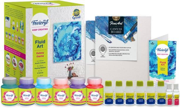 Fevicryl Pidilite Fluid Art Kit, DIY Acrylic Art Kit