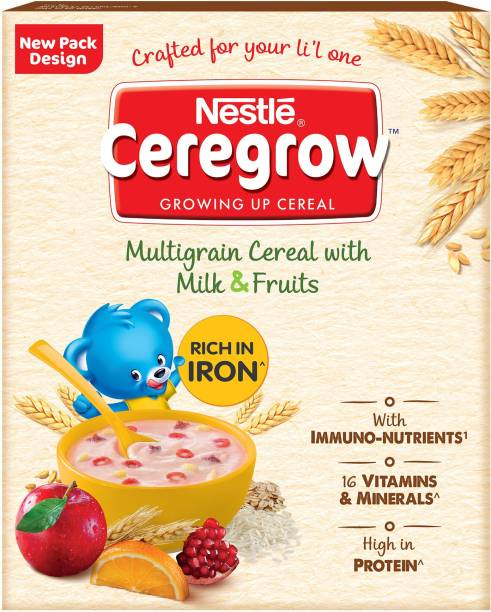 Nestle Ceregrow Multi Grain Cereal with Milk & Fruits (3-6 Years ) Cereal